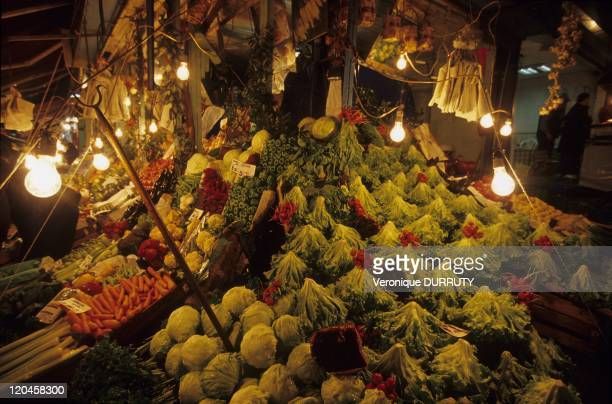 Vegetables in a market of kadikoy on the Asian shore of Istanbul Turkey