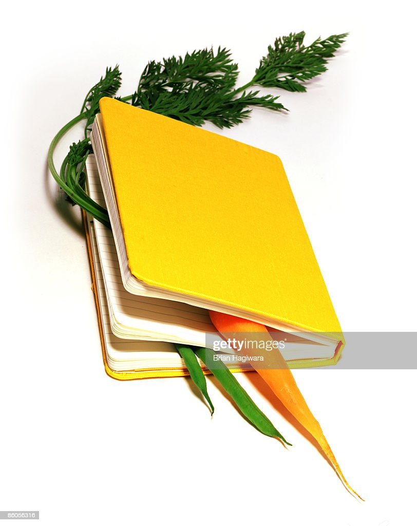 Vegetables in book : Stock Photo