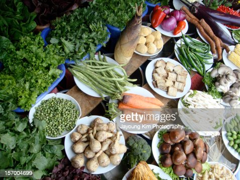 Vegetables in China : Stock Photo