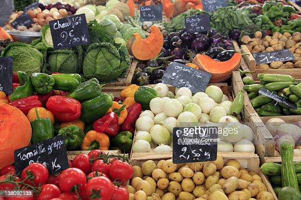 Vegetables in market in Cannes