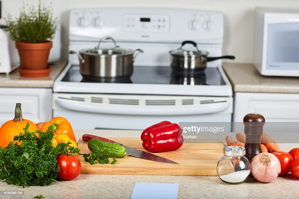 Vegetables in the kitchen. : Stock Photo