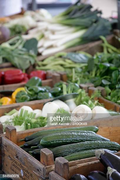 Vegetables on a market in Amsterdam, Netherlands