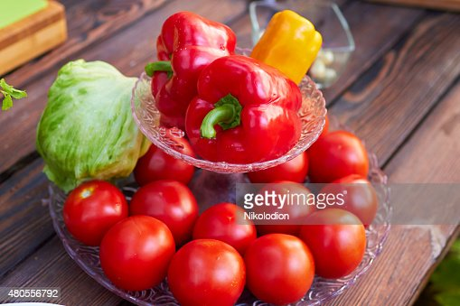 vegetables on a plate : Stock Photo