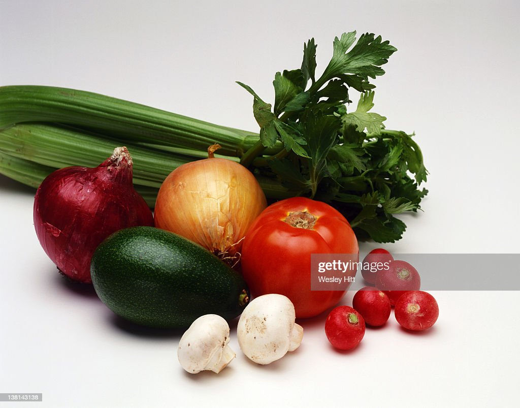 Vegetables on a white background : Stock Photo