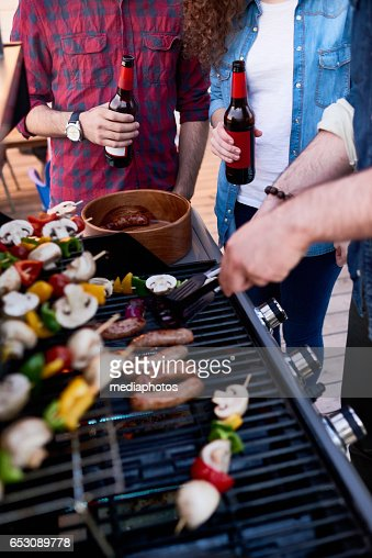 Vegetables on grill : Stock Photo
