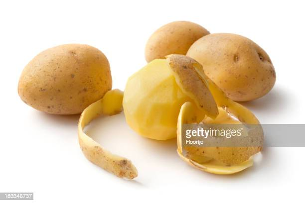 Vegetables: Potato Isolated on White Background