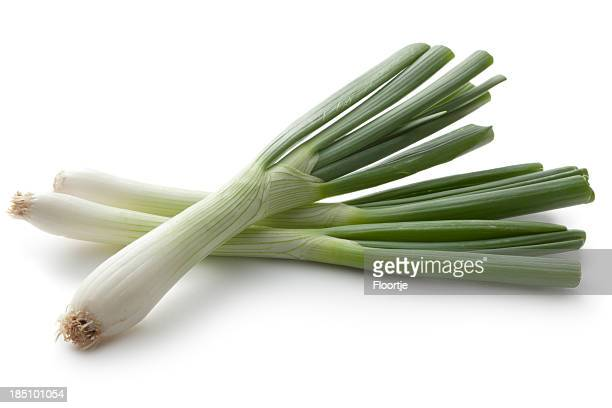 Vegetables: Spring Onion Isolated on White Background