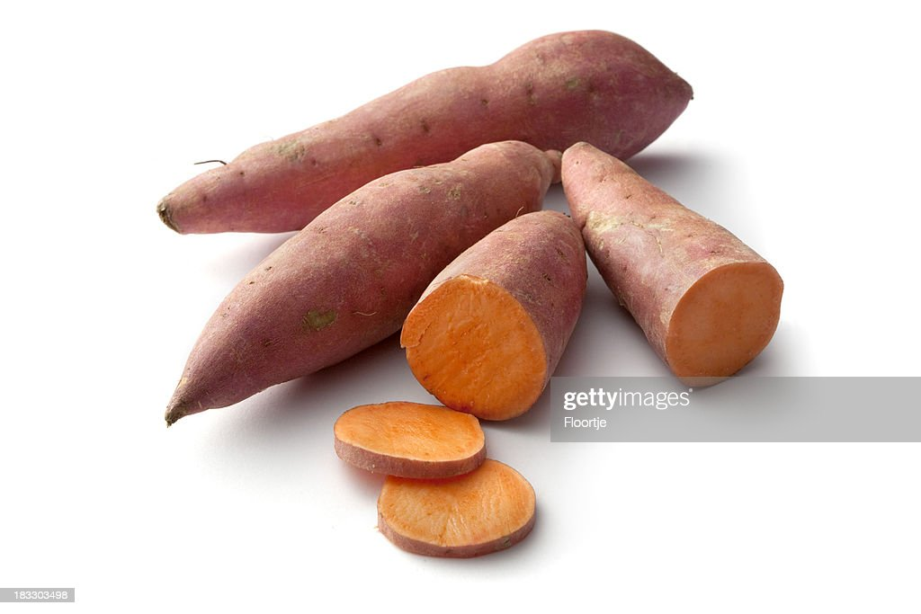 Vegetables: Sweet Potato Isolated on White Background : Stock Photo