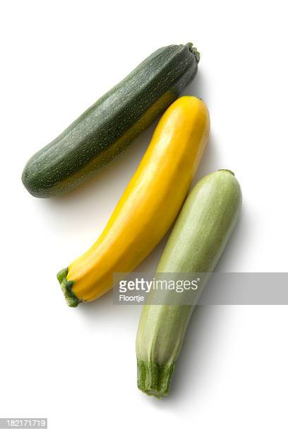 Vegetables: Zucchini Isolated on White Background