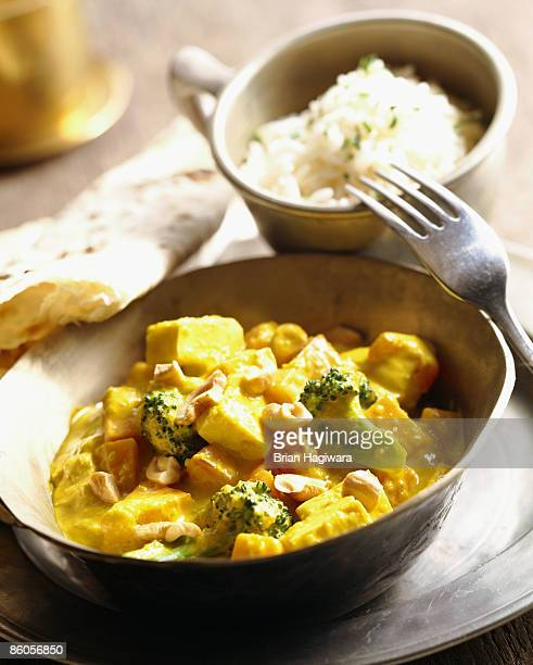 Vegetarian curry with cashew nuts