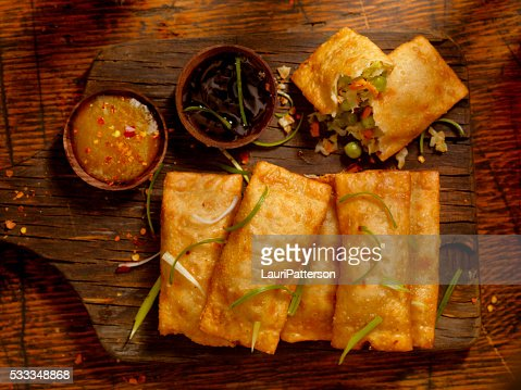 Vegetarian Eggrolls with Dipping Sauces