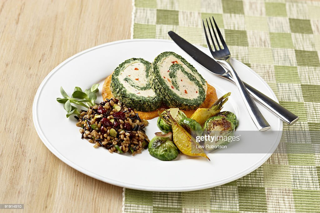Vegetarian Holiday Dinner : Stock Photo