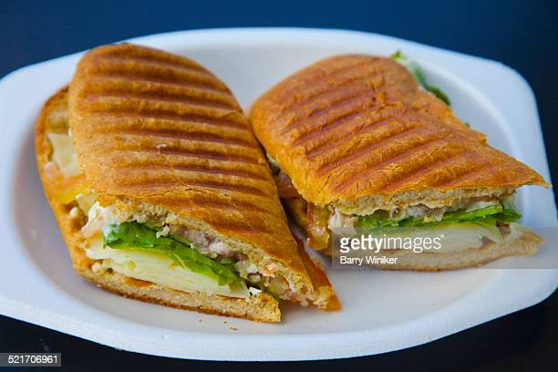 Vegetarian hot sandwich