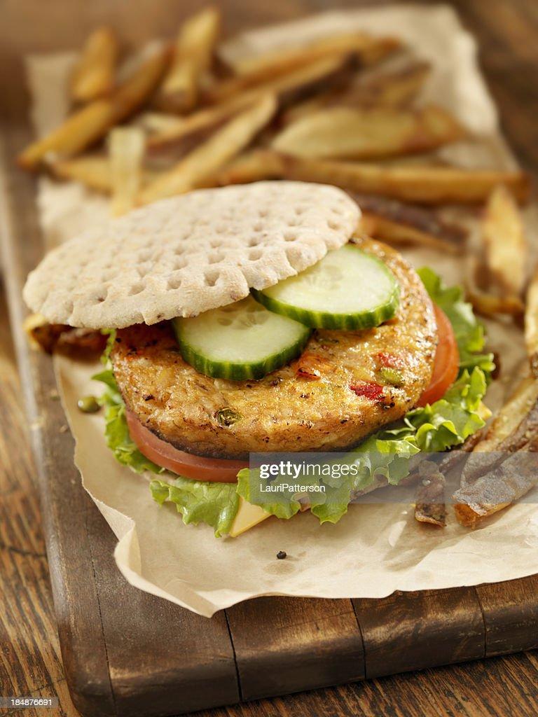 Vegetarian Soy Burger : Stock Photo