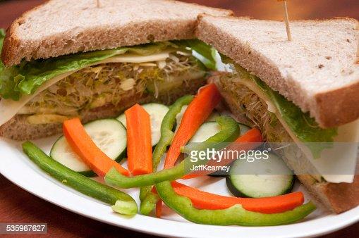 Veggie Sandwich Inviting : Stock Photo