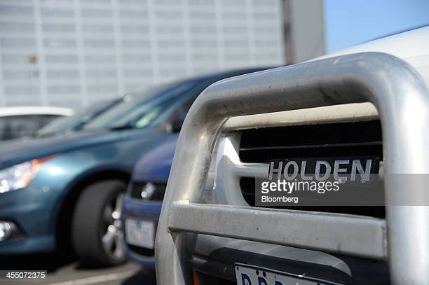 A vehicle bearing GM Holden Ltd branding stands parked at the company's headquarters in Melbourne Australia on Wednesday Dec 11 2013 General Motors...