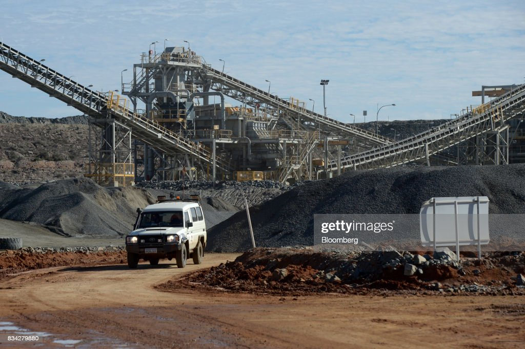 A vehicle drives through the processing plant at Evolution Mining Ltd.'s gold operations in Mungari, Australia, on Tuesday, Aug. 8, 2017. Evolution Mining is Australias second-largest gold producer. Photographer: Carla Gottgens/Bloomberg via Getty Images