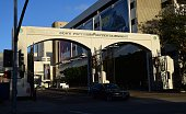 A vehicle exits the entryway to Sony Pictures Entertainment in Los Angeles California on December 4 a day after Sony Pictures denounced a 'brazen'...