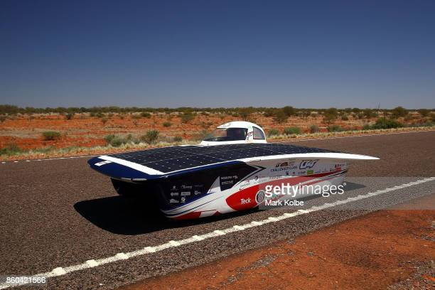 ANTAKARI vehicle 'INTIKALLPA IV' from Chile races in the Challenger Class between Marla Bore and Coober Pedy on Day 5 of the 2017 Bridgestone World...