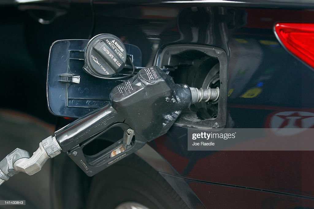 A vehicle is fueled up at a gas station on March 16, 2012 in Miami Beach, Florida. Reports indicate that the consumer price index rose 0.4 percent in February, the largest increase in 10 months. Gas prices rose 6 percent to account for most of the gain.