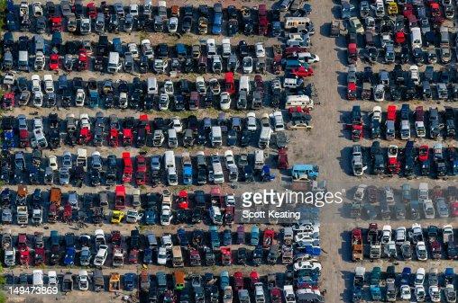 Vehicle Salvage Yard in Florida : Stock Photo