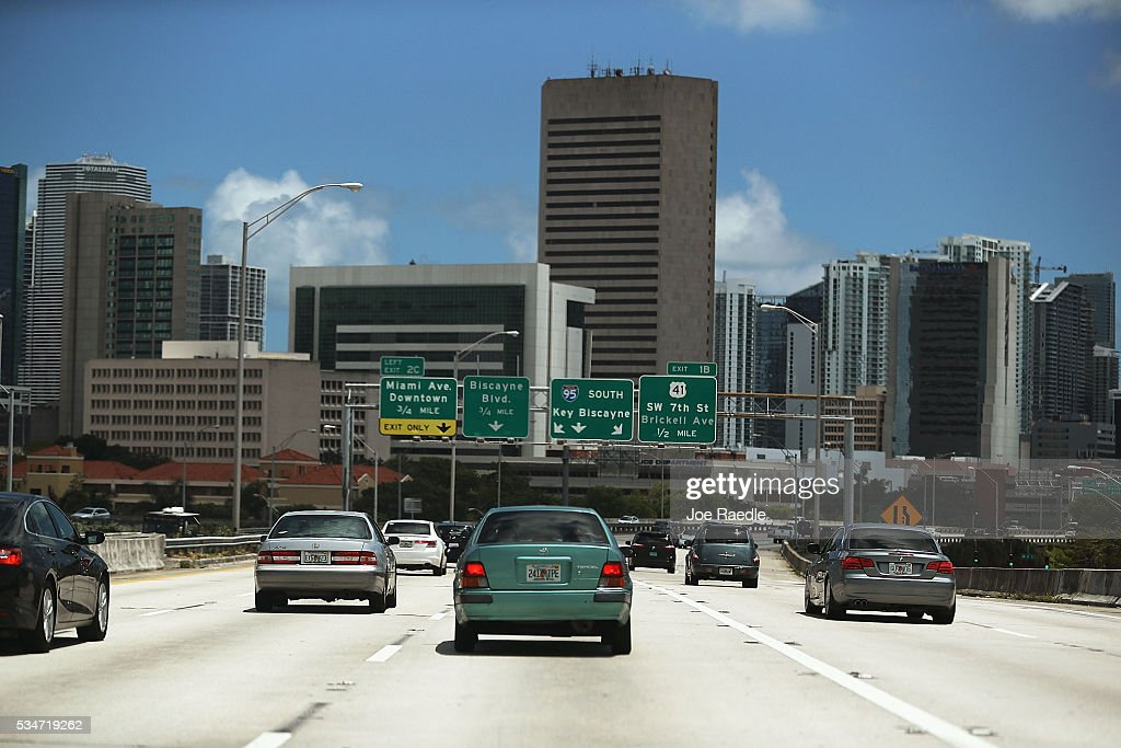 Vehicle traffic is seen on I-95 as people prepare for the Memorial Day weekend on May 27, 2016 in Miami, Florida. AAA is predicting 34 million Americans will drive 50 miles or more for Memorial Day weekend, the most since 2005.