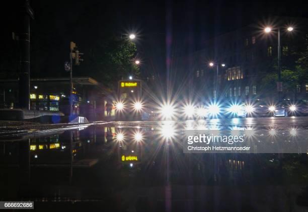 Vehicles at night