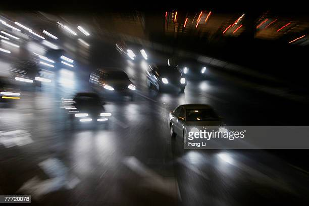 Vehicles drive on the highway that passes Beijing Olympic National stadium on November 5 2007 In Beijing China The 2008 Olympics host city will...