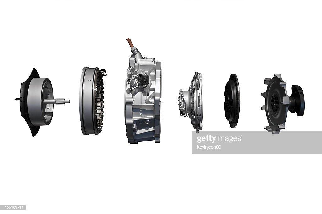 Vehicle's engine displayed taken apart