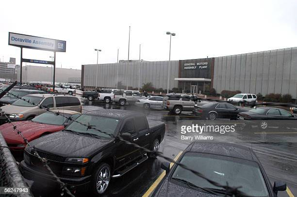 Vehicles lie parked outside the General Motors Doraville Assembly Plant November 21 2005 in Doraville Georgia The plant is one of nine manufacturing...