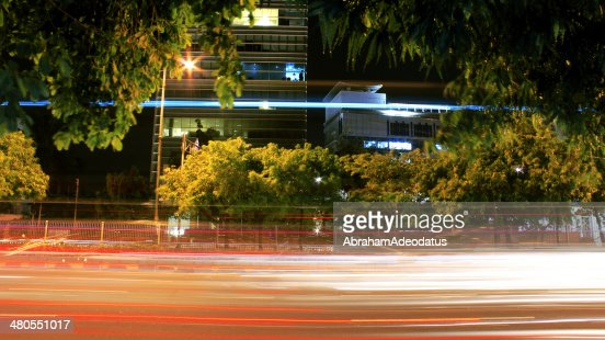 Vehicles Light Trails : Stock Photo