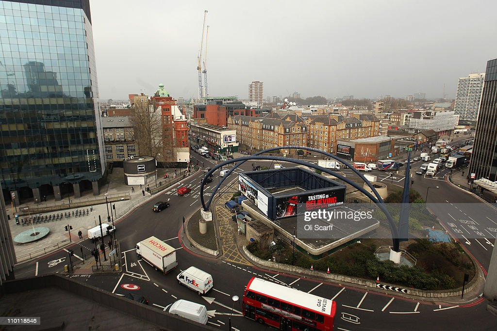 Vehicles negotiate the Old Street roundabout in Shoreditch, which has been dubbed 'Silicon Roundabout' due to the number of technology companies operating from the area on March 15, 2011 in London, England. The relatively low rental rates and proximity to media and internet companies has made the area close to the roundabout a prime location for IT firms and web entrepreneurs.