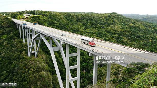 Vehicles On Bacunayagua Bridge