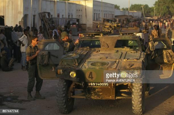 Vehicule blinde leger Panhard en fevrier 1993 en Somalie