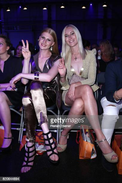 Veit Alex and Nina Bauer attend the Breuninger show during Platform Fashion July 2017 at Areal Boehler on July 21 2017 in Duesseldorf Germany
