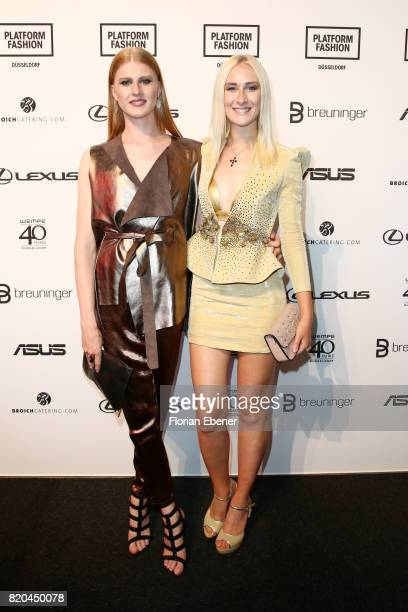 Veit Alex and Nina Bauer attends the Breuninger show during Platform Fashion July 2017 at Areal Boehler on July 21 2017 in Duesseldorf Germany