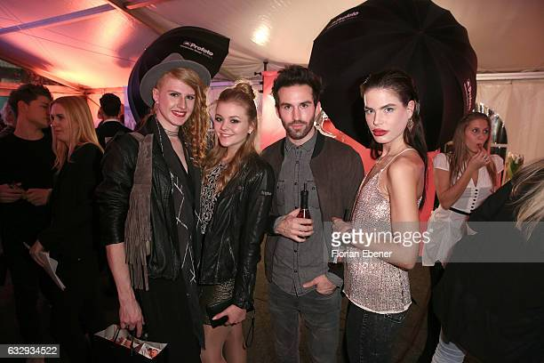 Veit Alex Anna GroztWestrich Kai Weissenfeld and Christiana Tamoda attend the Annette Goertz show during Platform Fashion January 2017 at Areal...
