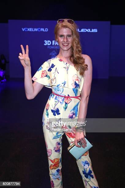 Veit Alex attends the 3D Fashion Presented By Lexus/Voxelworld show during Platform Fashion July 2017 at Areal Boehler on July 22 2017 in Duesseldorf...