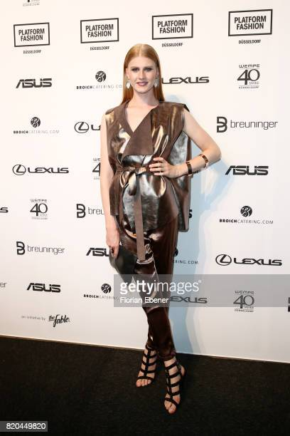 Veit Alex attends the Breuninger show during Platform Fashion July 2017 at Areal Boehler on July 21 2017 in Duesseldorf Germany