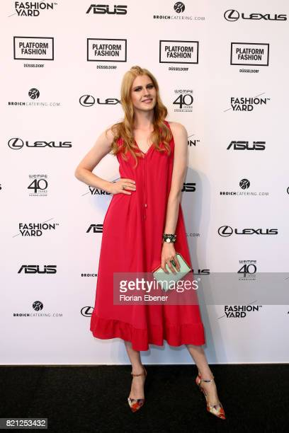 Veit Alex attends the Fashionyard show during Platform Fashion July 2017 at Areal Boehler on July 23 2017 in Duesseldorf Germany