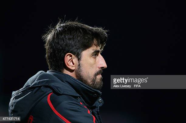 Veljko Paunovic the coach of Serbia during the FIFA U20 World Cup Semi Final match between Serbia and Mali at North Harbour Stadium on June 17 2015...