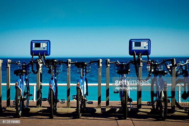 Velobleu bikes for hire in Nice,France
