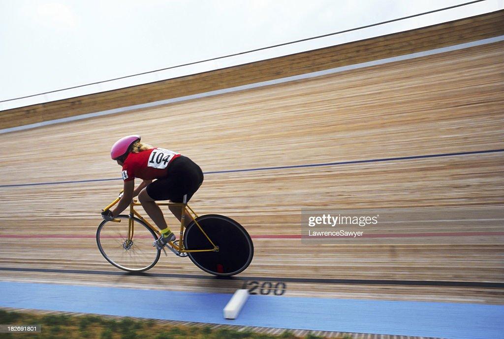 Velodrome bike racer #3