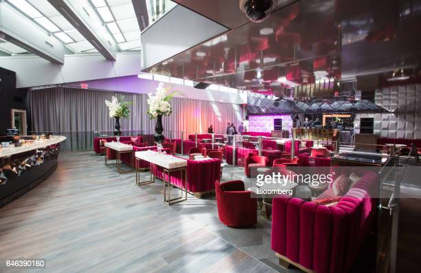 Velvet chairs and couches sit inside the Drais Nightclub at the Trump International Hotel Tower in Vancouver British Columbia Canada on Tuesday Feb...