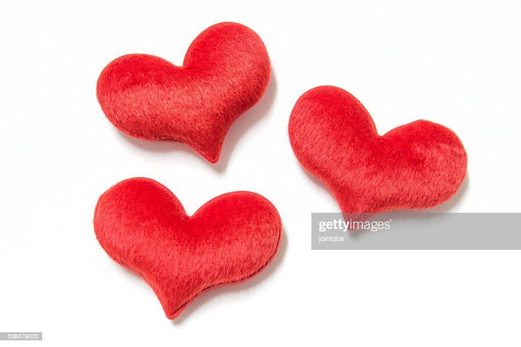 velvet plush heart : Stock Photo