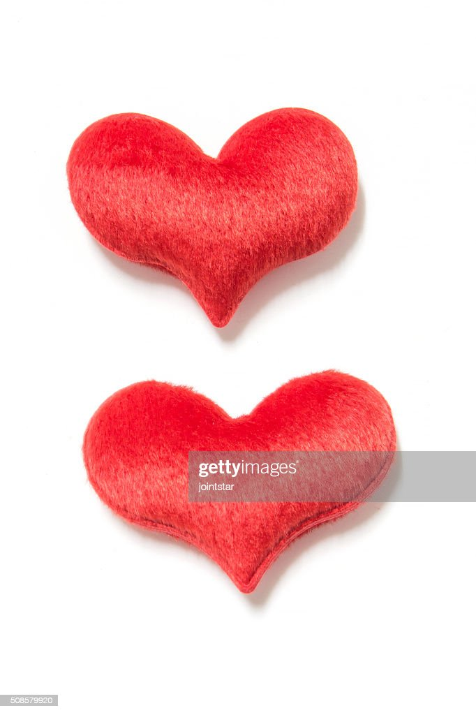 velvet plush heart : Stock Photo