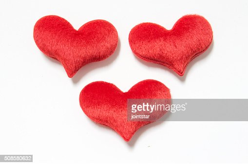 velvet plush heart : Stockfoto