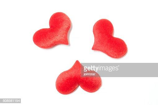 velvet plush heart : Stockfoto
