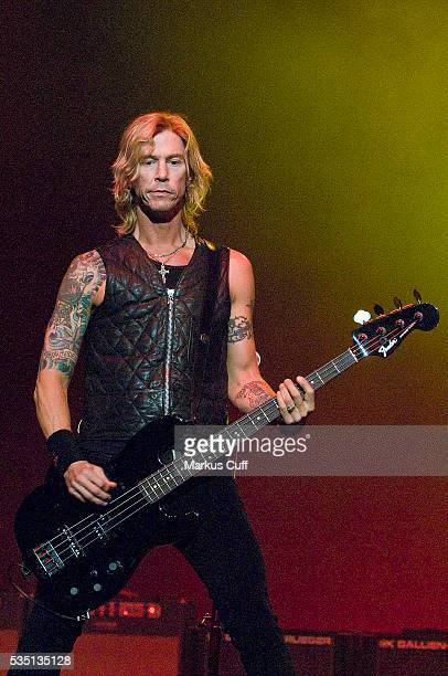 Velvet Revolver bassist Duff McCagan performs in front of a sold out crowd at The Wiltern Theater in Los Angeles