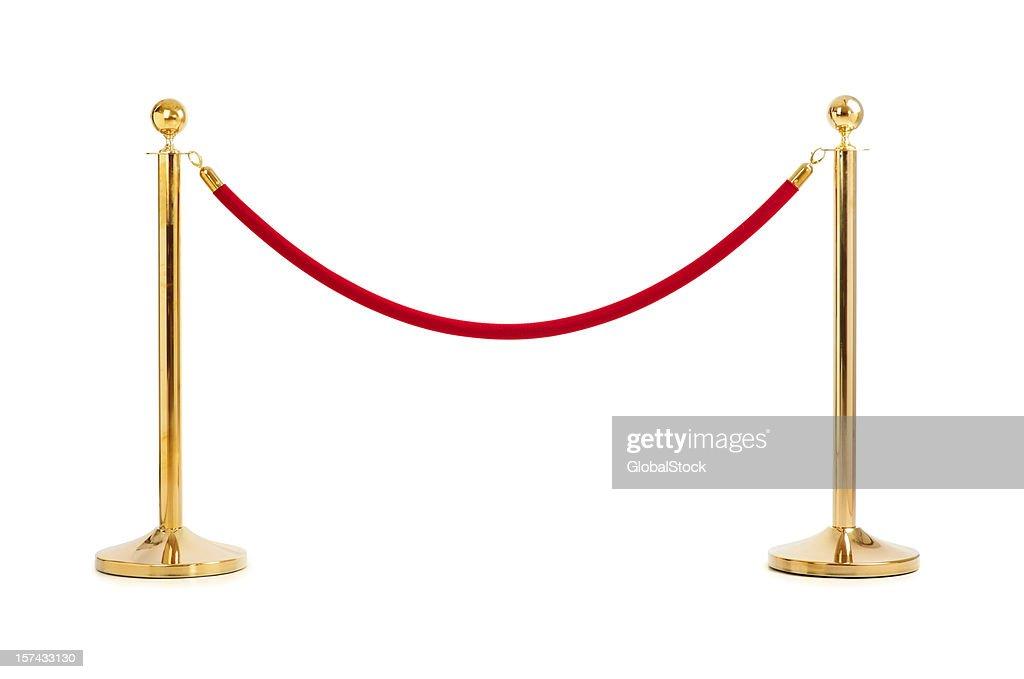 Velvet rope isolated : Stock Photo
